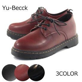 【Yu-Becck ユービック】【カジュアルシューズ】 オックスフォードシューズ タンクソール マニッシュ 44-5821