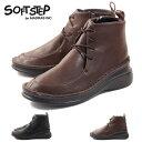 【SOFT STEP ソフトステップ】【ショートブーツ】レースアップショートブーツ ssl602