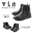 【VIS ビス】【ブーツ】 ショートブーツ サイドファスナー EEEE 幅ゆったり vis8000 VIS8000