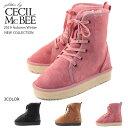 【CECIL McBEE セシルマクビー】【ブーツ】 ショートブーツ ムートン レースアップ cm8070