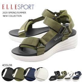 ELLE SPORT エルスポーツサンダル エル スポーツサンダル 軽量 歩きやすい スポーツ ウェッジソール スポサン レディース おしゃれ 靴 疲れない 走れる 靴擦れしない esp12534