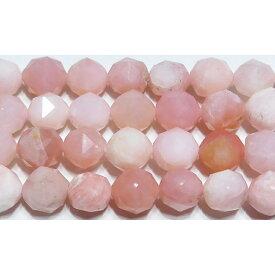 【クーポン対象】 ピンクオパール スターカット 6mm B  ※ 天然石 天然石ビーズ パワーストーン 1粒売り バラ売り 1玉販売