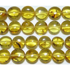 アンバー コイン・タンブル 11mm (虫入り琥珀)  ※ 天然石 天然石ビーズ パワーストーン 1粒売り バラ売り 1玉販売 【クーポン対象】【39ショップ】