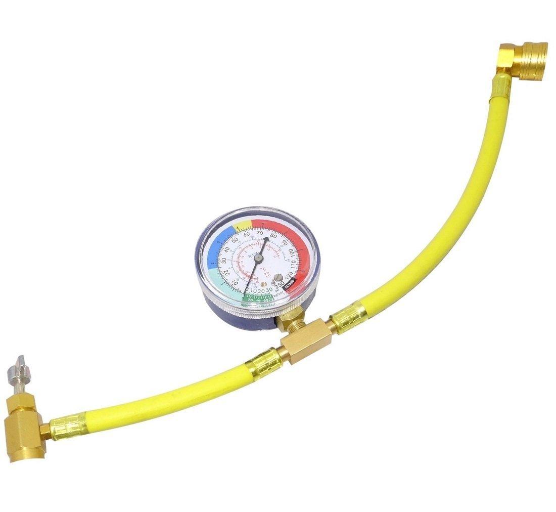 カー エアコン R134a メーター付 ガス チャージ ホース ガスチャージ 送料無料