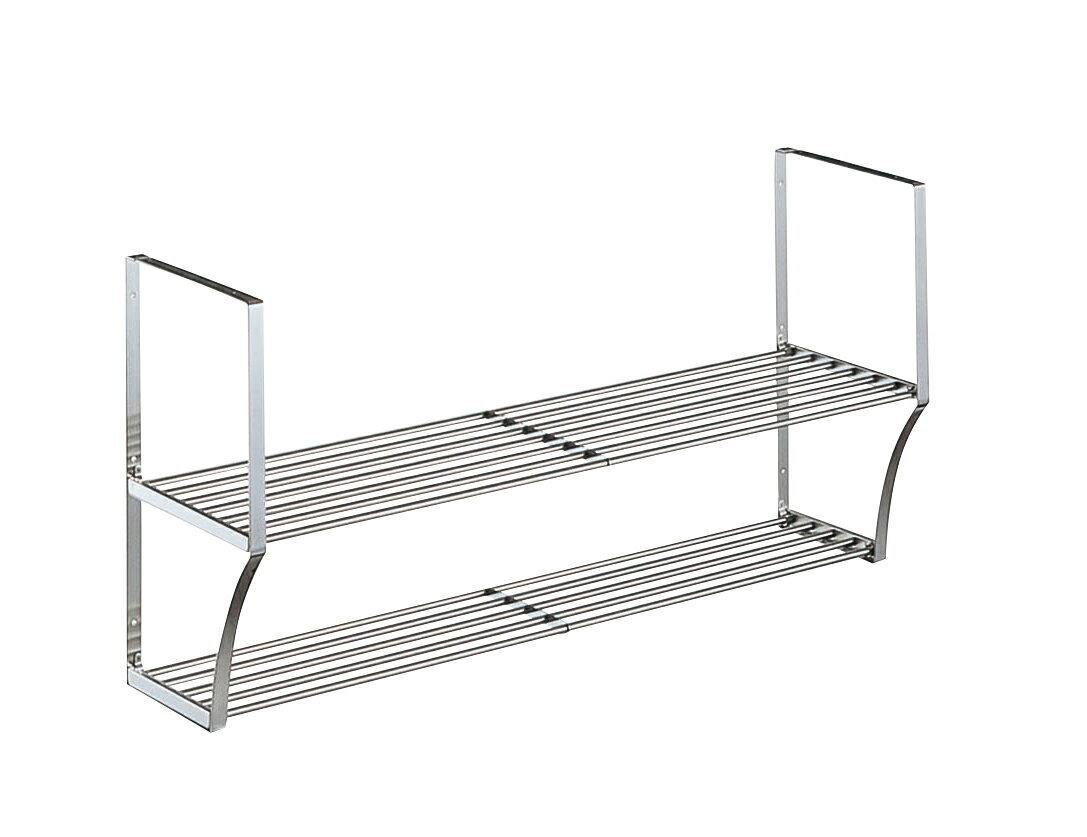 【タクボ】 キッチン水切パイプ棚2段オーダーサイズ(幅91cm〜119cm)