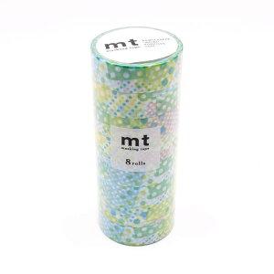 mt マスキングテープ 8P ネガポジドット・ブルー MT08D423「他の商品と同梱不可/北海道、沖縄、離島別途送料」