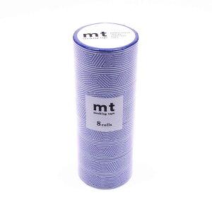 mt マスキングテープ 8P ボーダー&サークル・ブルー MT08D437「他の商品と同梱不可/北海道、沖縄、離島別途送料」