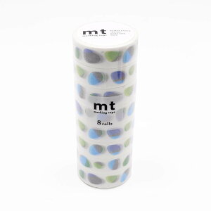 mt マスキングテープ 8P ストーン・ブルー MT08D441「他の商品と同梱不可/北海道、沖縄、離島別途送料」