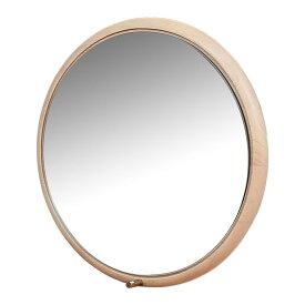 【代引不可】Ladybug wall mirror ナチュラル ILM-3210NA「他の商品と同梱不可/北海道、沖縄、離島別途送料」