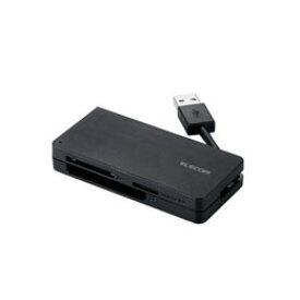 ☆エレコム USB3.0対応メモリカードリーダ(ケーブル収納タイプ) MR3-K012BK