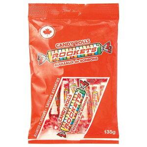 【代引不可】ROCKETS(ロケッツ) キャンディーロール 135g×12個セット「他の商品と同梱不可/北海道、沖縄、離島別途送料」