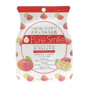 PureSmile(ピュアスマイル)  エッセンスマスク ヨーグルトシリーズ 30枚セット アップルマンゴー・YG003「他の商品と同梱不可/北海道、沖縄、離島別途送料」