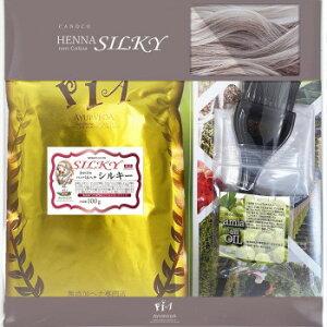 PIA ヘアーパック かの子のハーバルヘナシルキー×1袋+Aセット 100g 無色 H-silky×1+*A(ama)「他の商品と同梱不可/北海道、沖縄、離島別途送料」