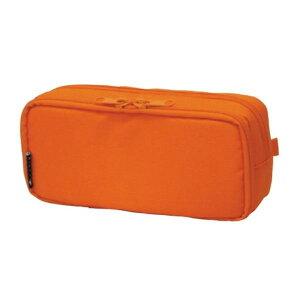 ペンケース ラウンドジップ ボックス オレンジ 106163 04「他の商品と同梱不可/北海道、沖縄、離島別途送料」