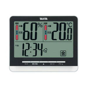 TANITA タニタ デジタル温湿度計 TT-538BK「他の商品と同梱不可/北海道、沖縄、離島別途送料」