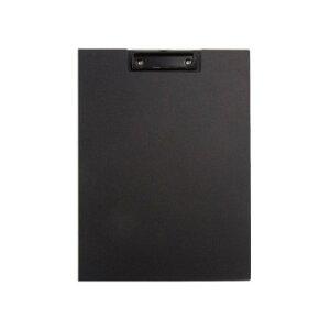 ナカバヤシ ワイドクリップボード カバータイプ ブラック QB-CWA4E-BK「他の商品と同梱不可/北海道、沖縄、離島別途送料」