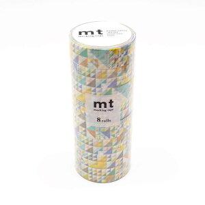 mt マスキングテープ 8P さんかく・ブルー MT08D287「他の商品と同梱不可/北海道、沖縄、離島別途送料」