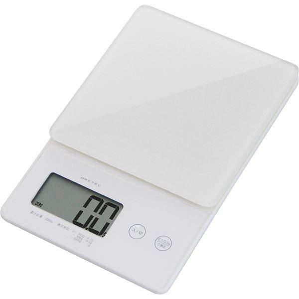◇dretec(ドリテック) デジタルスケール「ストリーム」2kg KS-245WT ホワイト※他の商品と同梱不可