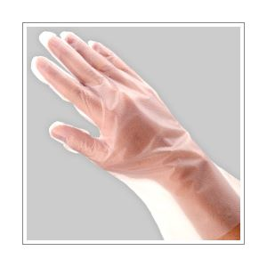 ◇(業務用セット) 福助工業 ポリ手袋 指フィット 100枚パック L 【×10セット】※他の商品と同梱不可