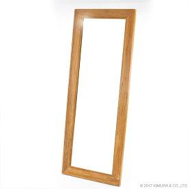 【チーク】ウォールミラー(70×180cm)/家具 インテリア ウォールミラー スタンドミラー 姿見 全身鏡 壁立て掛け式 チーク 無垢 木製 リビング 玄関 寝室 北欧 ナチュラル カントリー 大型 オシャレ 鏡 姿見 全身姿見