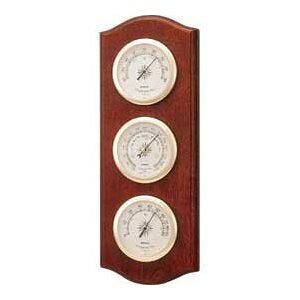 温湿度計 高精度 エンペックス 気圧計 木目 記念品 インテリア 英国 イギリス アナログ 日本製 壁掛け ウェザーガイド気象計 BM-716