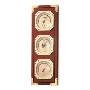 温湿度計 高精度 エンペックス 気圧計 木目 記念品 インテリア 英国 イギリス アナログ 日本製 壁掛け ウェザーマスター気象計 BM-751