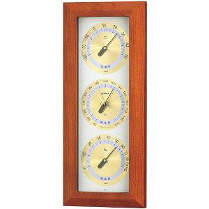 温湿度計 高精度 エンペックス 気圧計 木目 記念品 インテリア アナログ 日本製 壁掛け アトモス気象計 BM-727