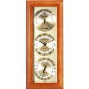 温湿度計 高精度 エンペックス 時計 不快指数計 木目 記念品 インテリア アナログ 日本製 壁掛け 快適モニタ1台4役不快指数・時計・温度・湿度計 TM-712
