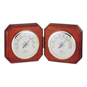 温湿度計 高精度 エンペックス 木目 記念品 インテリア アナログ 日本製 置き型 インペリアル温度・湿度計 TM-711