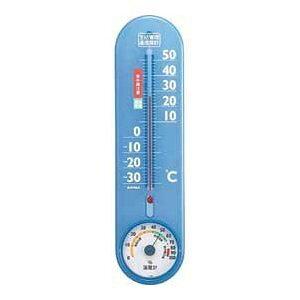 温湿度計 エンペックス アナログ 日本製 食中毒注意 壁掛け 生活管理温・湿度計 クリアブルー TG-2456