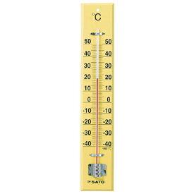 佐藤計量器/SATO 大型木製寒暖計 SK式45型
