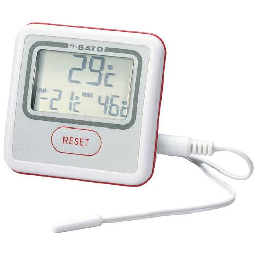 佐藤計量器/SATO 温度計 冷蔵庫用 デジタル 壁掛け 卓上 冷蔵庫用温度計 PC-3300