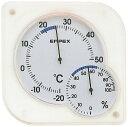 温湿度計 エンペックス アナログ 壁掛け 置き型 シュクレmidi温湿度計 ホワイト TM-5601
