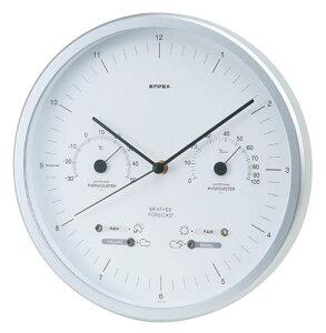 温湿度計 エンペックス アナログ 日本製 お天気時計 天気予測 壁掛け スーパーEX晴天望機・1台4役 EX-5471