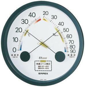 温湿度計 高精度 エンペックス アナログ 日本製 壁掛け エスパス温・湿度計 TM-2332