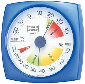 温湿度計 エンペックス アナログ 日本製 食中毒注意 壁掛け 生活管理温・湿度計 TM-2436