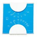 温湿度計 エンペックス アナログ 日本製 壁掛け 置き型 おしゃれ インテリア エルム・カラー温・湿度計 ブルー LV-4956