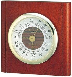 温湿度計 高精度 エンペックス 木目 記念品 インテリア アナログ 日本製 置き型 壁掛け ルームガイド 温・湿度計 TM-713