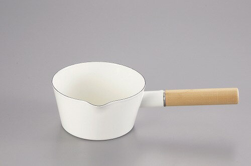 アミィ ホーローミルクパン 15cm(ホワイト) HB-800 パール金属