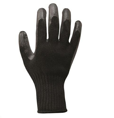 丸五 ゴム手袋(背抜き加工) 黒万年#009 ブラック フリーサイズ 10双セット