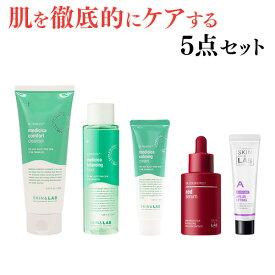 肌を鎮静・保湿するシカ成分配合の基本スキンケアとエイジング効果美容液、肌の悩み別に特化したビタミンクリームで肌を徹底的にケアするスキンケア5点セット(メディシカ3点セット+レッドセラム+ビタミンクリーム選択) 化粧水 乳液 洗顔料 クリーム トラブル肌 保湿