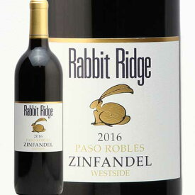 ラビット リッジ ジンファンデル パソ ロブレス 2016 Rabbit Ridge Zinfandel Paso Robles 赤ワイン アメリカ カリフォルニア うさぎ 兎 ウサギ 辛口 ラングドシェン