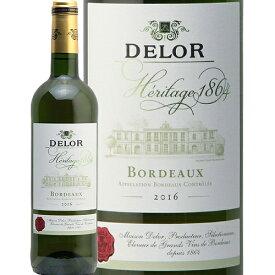デロー ボルドー ブラン セック 2016 Delor Bordeaux Blanc Sec 白ワイン フランス ボルドー グラーヴ バリューボルドー 辛口 日本酒類販売