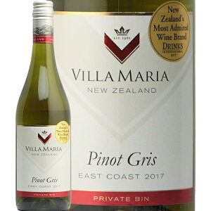 ヴィラマリア プライベートビン ピノグリ 2019 Villa Maria Private Bin Pinot Gris 白ワイン ニュージーランド やや辛口 木下インターナショナル