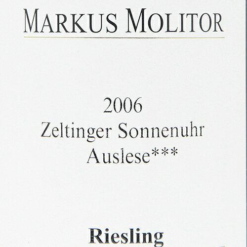 アウスレーゼトロッケン***2006マーカスモリトールZeltingerSonnenuhrAusleseTrockenMarkusMolitor白ワインドイツモーゼルリースリング辛口バックヴィンテージパーカーポイント98点!ツェルティンガーゾンネンウーア