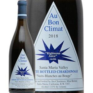 オー ボン クリマ シャルドネ ニュイ ブランシュ ライチェアス ジュース 2018 Au Bon Climat Chardonnay Nuits Blanches Righteous Juice 白ワイン アメリカ カリフォルニア 新樽香 JALUX