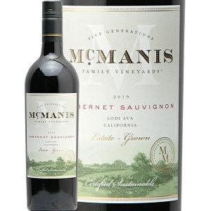 マックマニス カベルネ ソーヴィニョン 2019 MCMANIS Cabernet Sauvignon Lodi California 赤ワイン アメリカ カリフォルニア 新樽香 フルボディ 中川ワイン