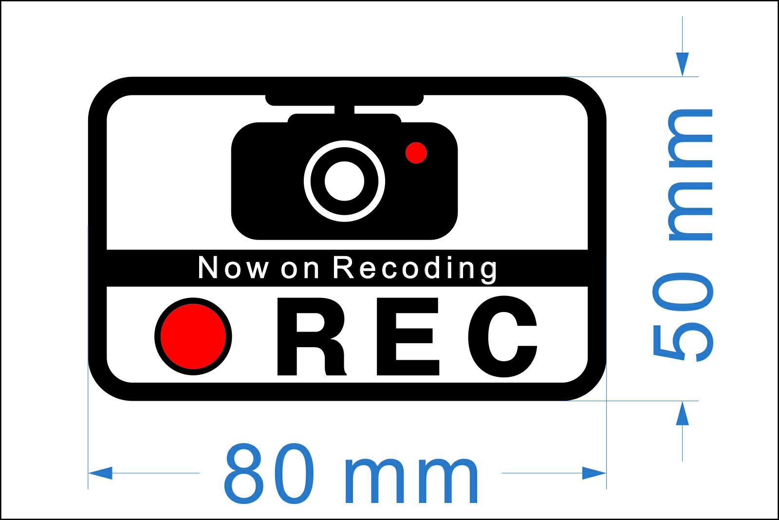 録画中 ステッカー シール ドライブレコーダー 搭載車 防水加工 車用 ドラレコ REC