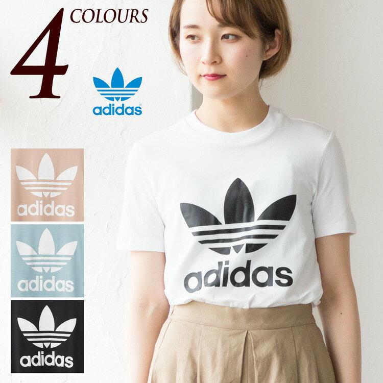 アディダス オリジナルス レディース トレフォイル Tシャツ EKC86