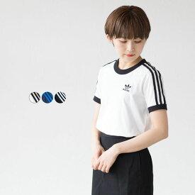 アディダス オリジナルス レディース スリーストライプ Tシャツ FZG52 [ネコポス可]